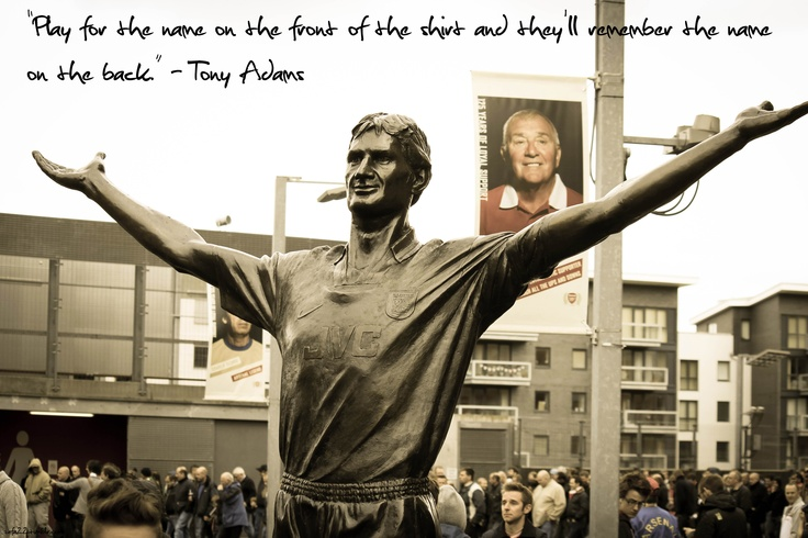 Tony Adams. Arsenal Legend.