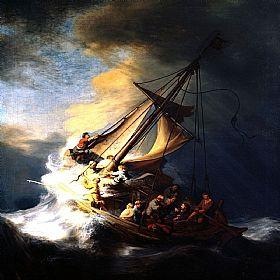 REMBRANDT, Le Christ dans la tempête en mer de Galilée