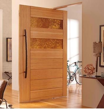 Puerta moderna rustica puertas pinterest puertas for Puertas para departamentos madera