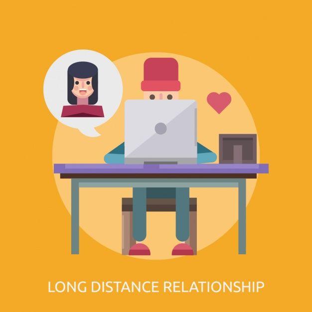 Romantic relationship online Free Vector