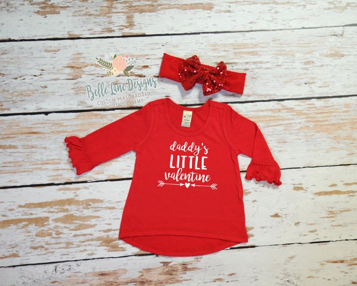 Toddler U0026 Infant Monogram Valentine Shirt And Red Sequin Bow