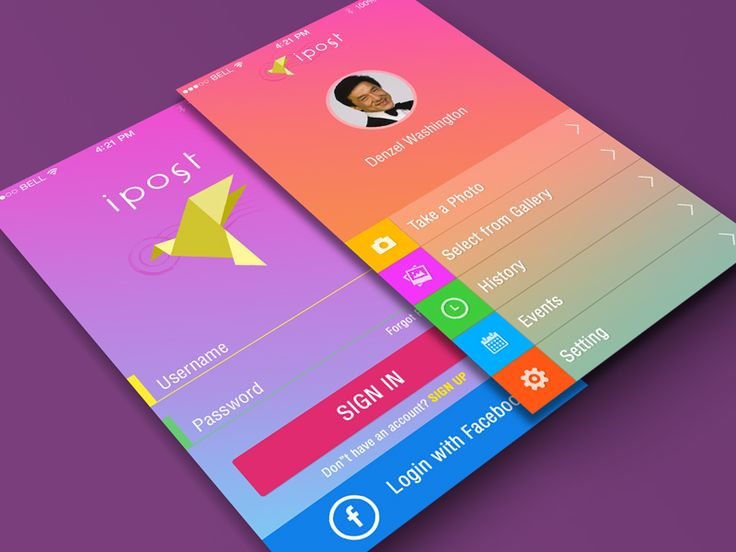 Screens With Gradient Backgrounds Ios by Yasser Achachi