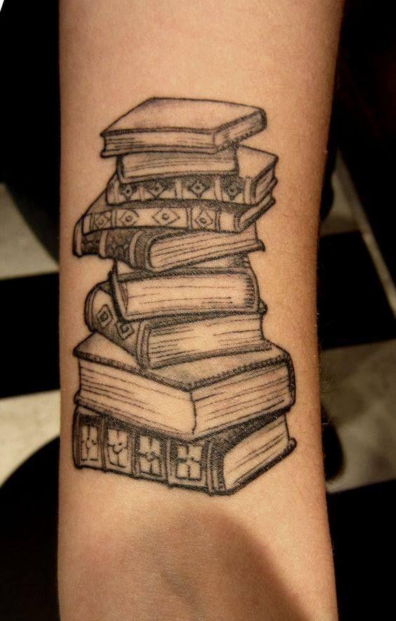 cool black book tattoo