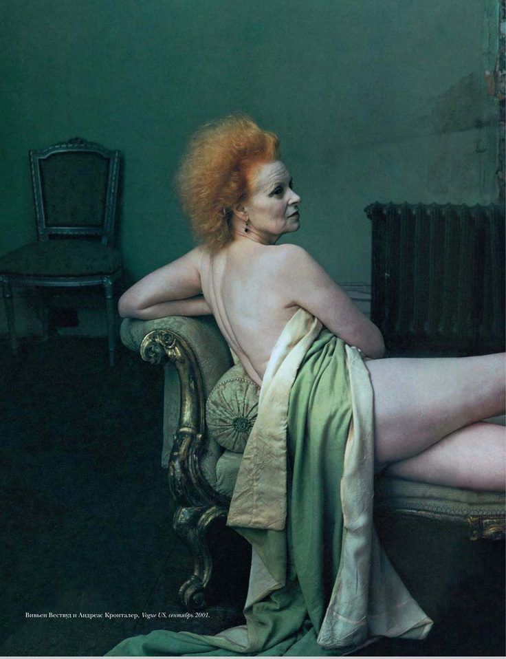 Vivienne Westwood photographed by Annie Leibovitz, 2003. (and just the picture itself, heroes all.)