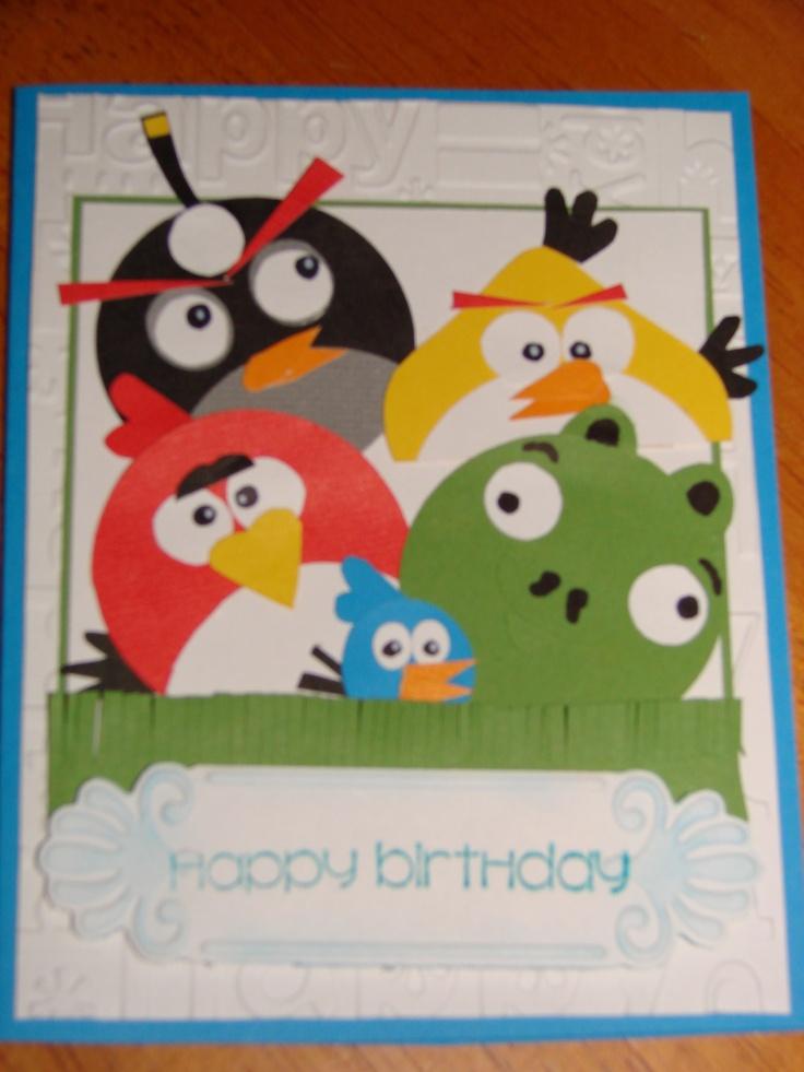 Angry Birds Birthday Card - idea from pinterest