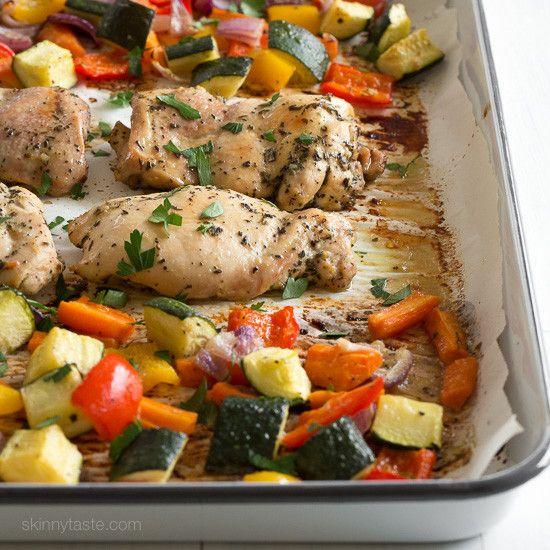 Sheetpan Italian Chicken and Veggie Dinner   Skinnytaste