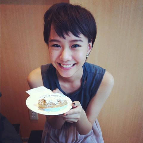 Toey with her cake