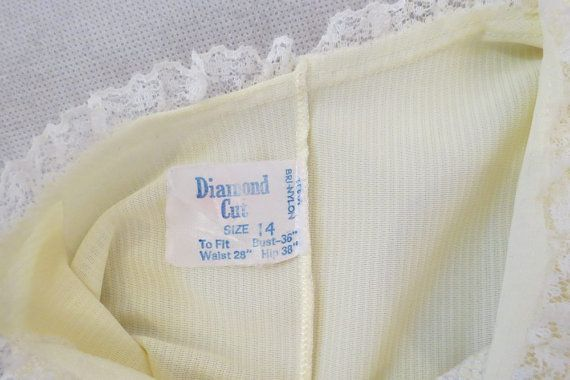 #diamondcut - Australian label on a 1960s-1970s nightgown.