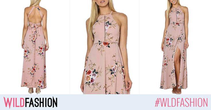 O rochie maxi, vaporoasa, inflorata si cu spatele gol e garantia confortului stilat intr-o zi fierbinte de vara: