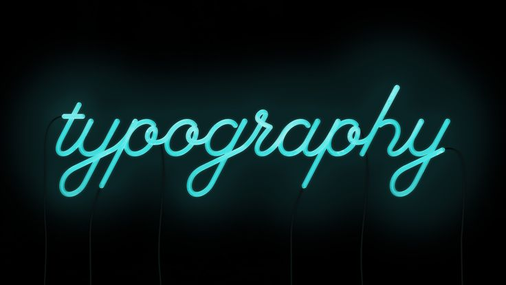 Neon Typography By Skinny Will REALLY Cute Cursive