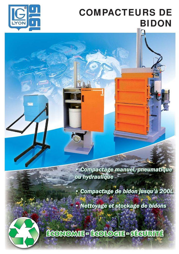 http://www.tricolor-industries.fr/ Compactage manuel, pneumatique ou hydraulique • Compactage de bidons jusqu'à 200L • Nettoyage et stockage de bidons