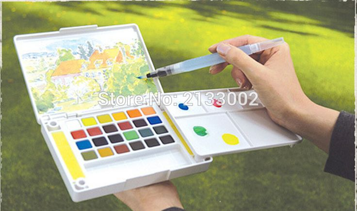 Nachfüllbare Pinsel Tinte Stift Für Wasser Farbe Kalligraphie Zeichnung Malerei Abbildung Stift Malerei Teaching Tools