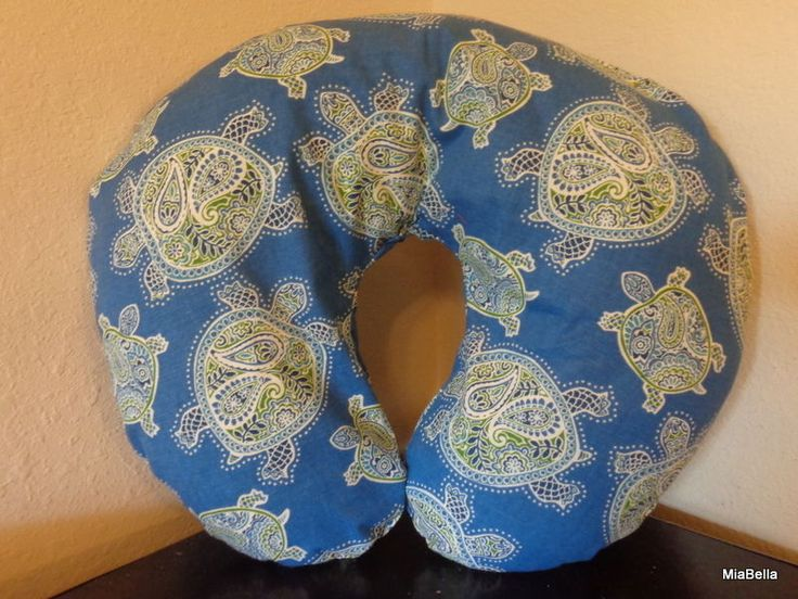 Tranquil Turtles  w/ Minky Nursing Pillow Cover     Tranquil Turtles Boppy Cover #Handmade