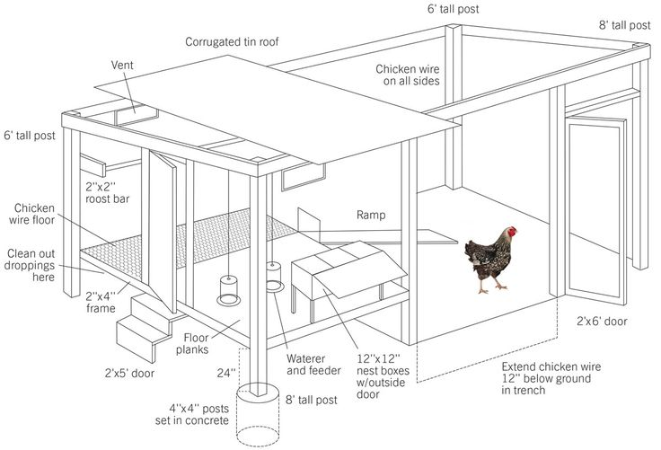 Poultry houses layout