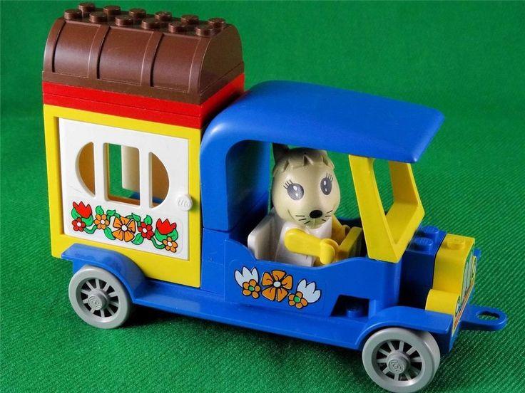 Vintage 1981 Lego Fabuland set 3635 - BONNIE BUNNY S CAMPER + EXTRAS