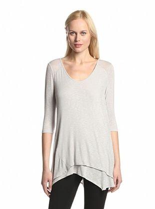 55% OFF TWO by Ronen Chen Women's Siren Asymmetric Tunic (Light Grey)