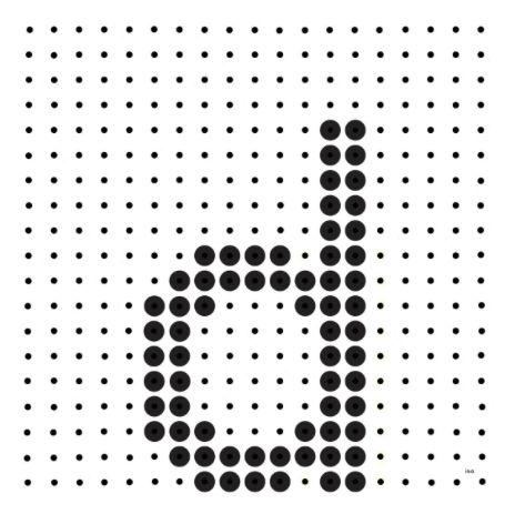Kralenplank - letter d