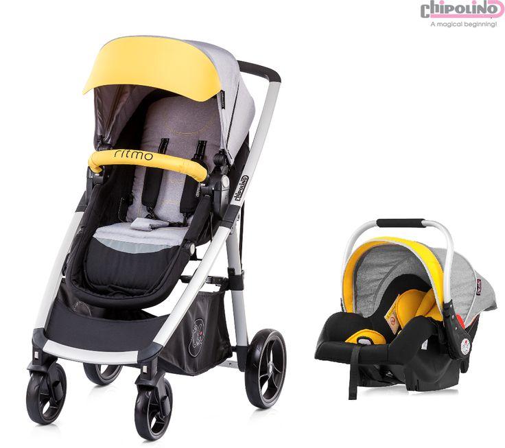 Chipolino Ritmo Single Yellow Travel Set Bebek Arabası