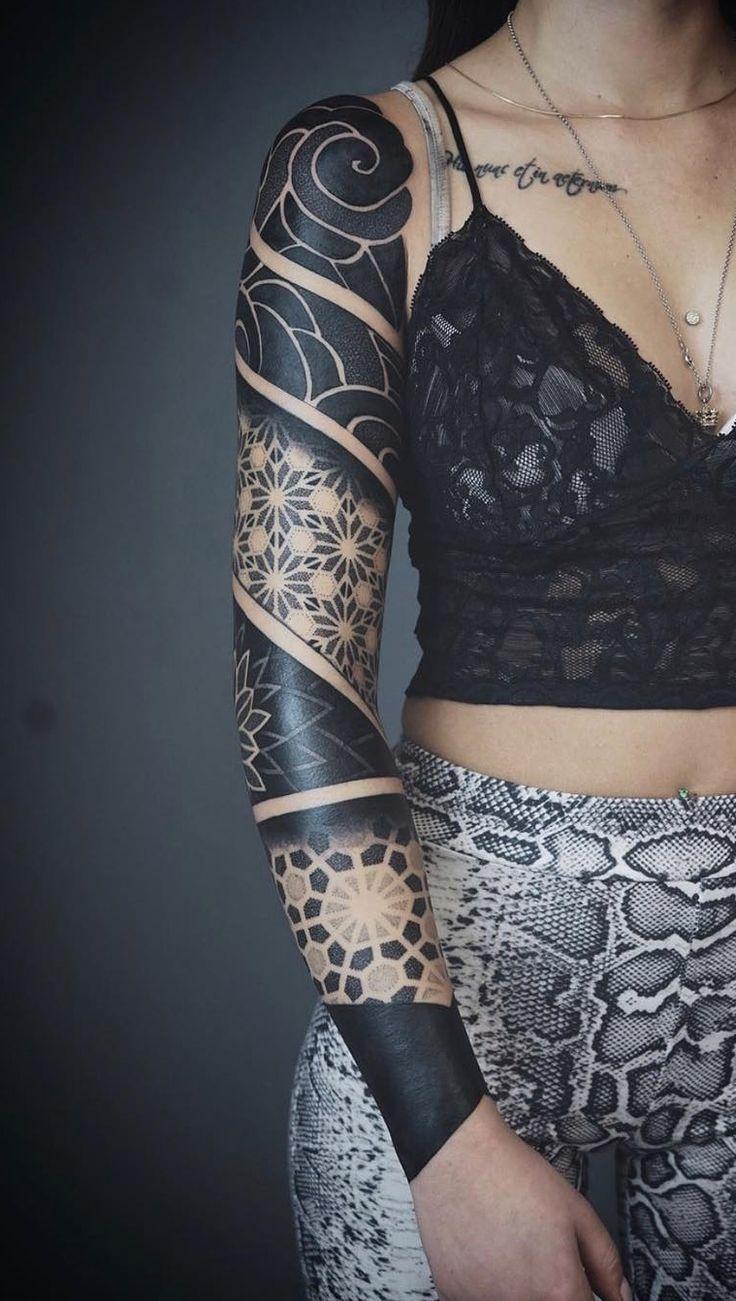 35 Tatuagens de braço fechado femininas para se inspirar – TopTatuagens – Valérie Blanchette L