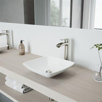 Shop VIGO Hyacinth Matte Stone Vessel Bathroom Sink with Niko Vessel