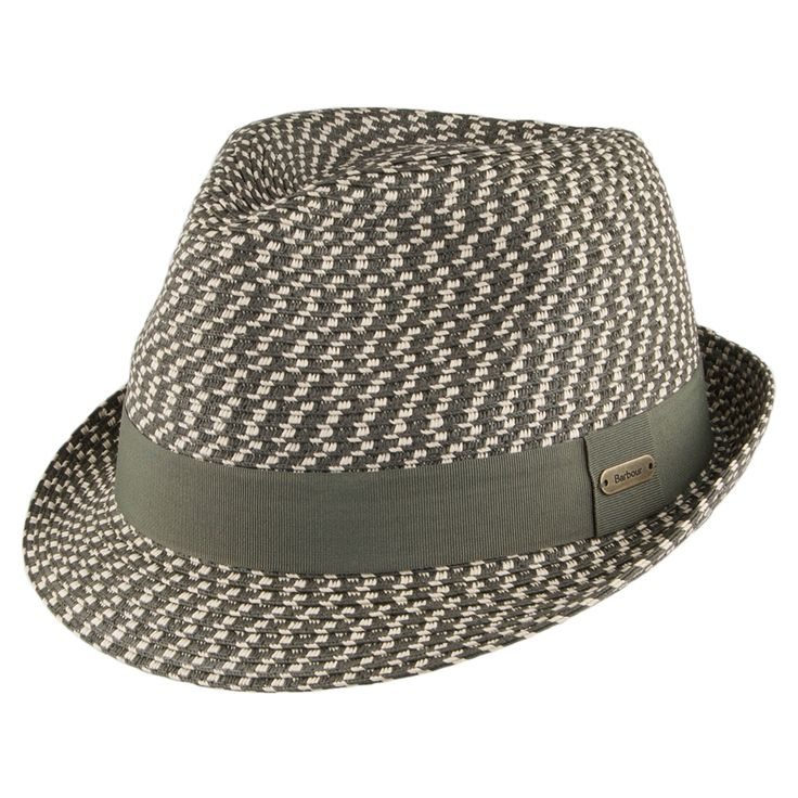 Barbour Hats Eadan Toyo Straw Trilby Hat - Natural-Olive
