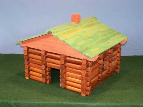 Make Your Own Log Cabin Building Set Kids Toys