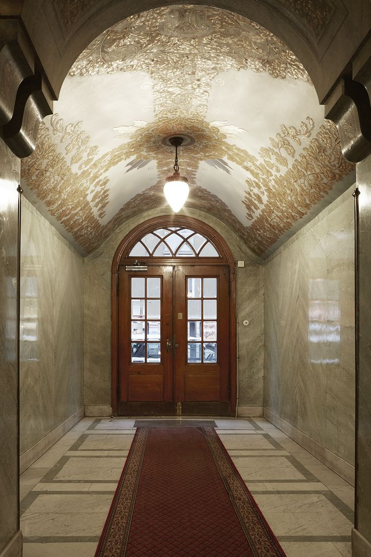 Entrance, stairs, architecture. Scandinavian interior. Fantastic Frank Real Estate.