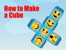 Cube - How to Make a Cube - a Printable 3d Net