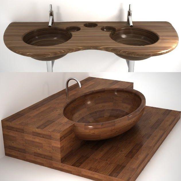 Modern Waterproof Wood Sinks And Tubs From Uwd Wood Sink