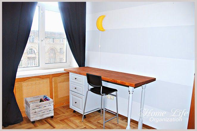 DIY table (from kitchen cabinet). Стол в детскую из кухонного шкафа своими руками