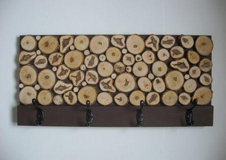 HOME DZINE Home DIY | Coat rack with wood slices