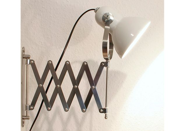 Wandleuchten - charmante Scheren-Lampe im Bauhaus Loft Design - ein Designerstück von lumieres-du-siecle bei DaWanda  http://de.dawanda.com/product/71898231-charmante-Scheren-Lampe-im-Bauhaus-Loft-Design
