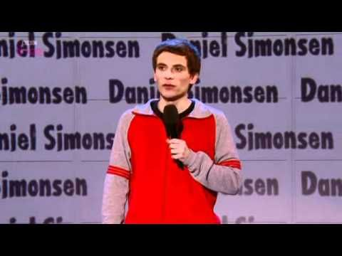 """Daniel Simonsen on Russell Howard's Good News"" I laughed so hard. ""Why are you not talking? - Oh, I forgot. Thanks for pointing it out."" xD"