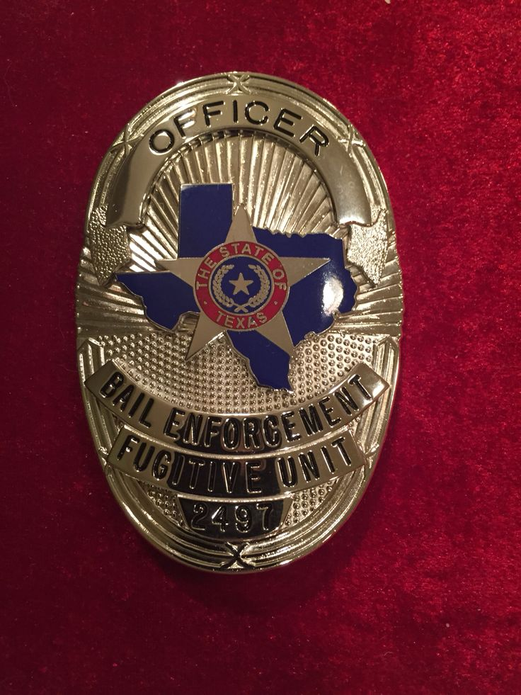 State of Texas bail enforcement fugitive officer badge