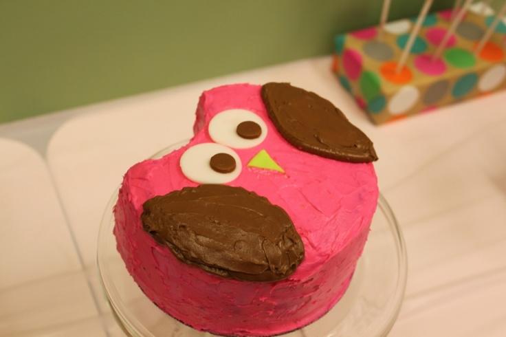 owl smash cake- love it!