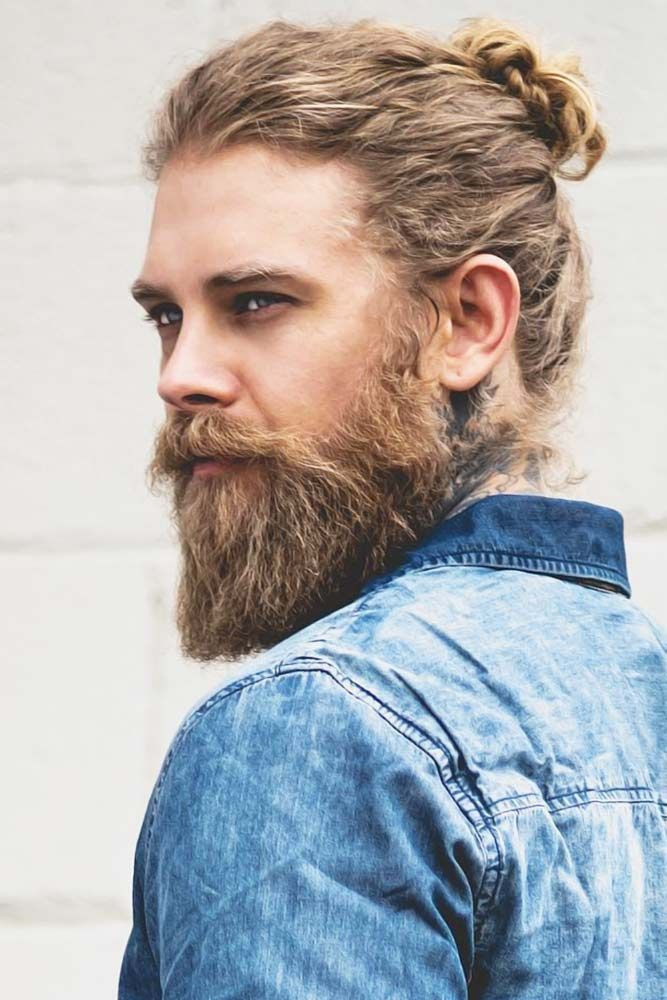 How To Get Style And Sport The On Trend Man Bun Hairstyle Man Bun Hairstyles Long Hair Beard Men S Long Hairstyles