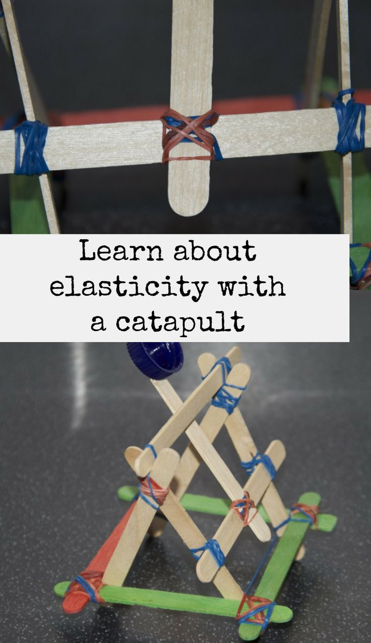 Make a catapult and learn about elasticity. #Science