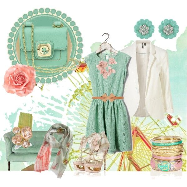 mint and pink