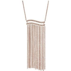 Michael Kors Wonderlust Long Tassel Pendant Necklace (Rose Gold) Necklace