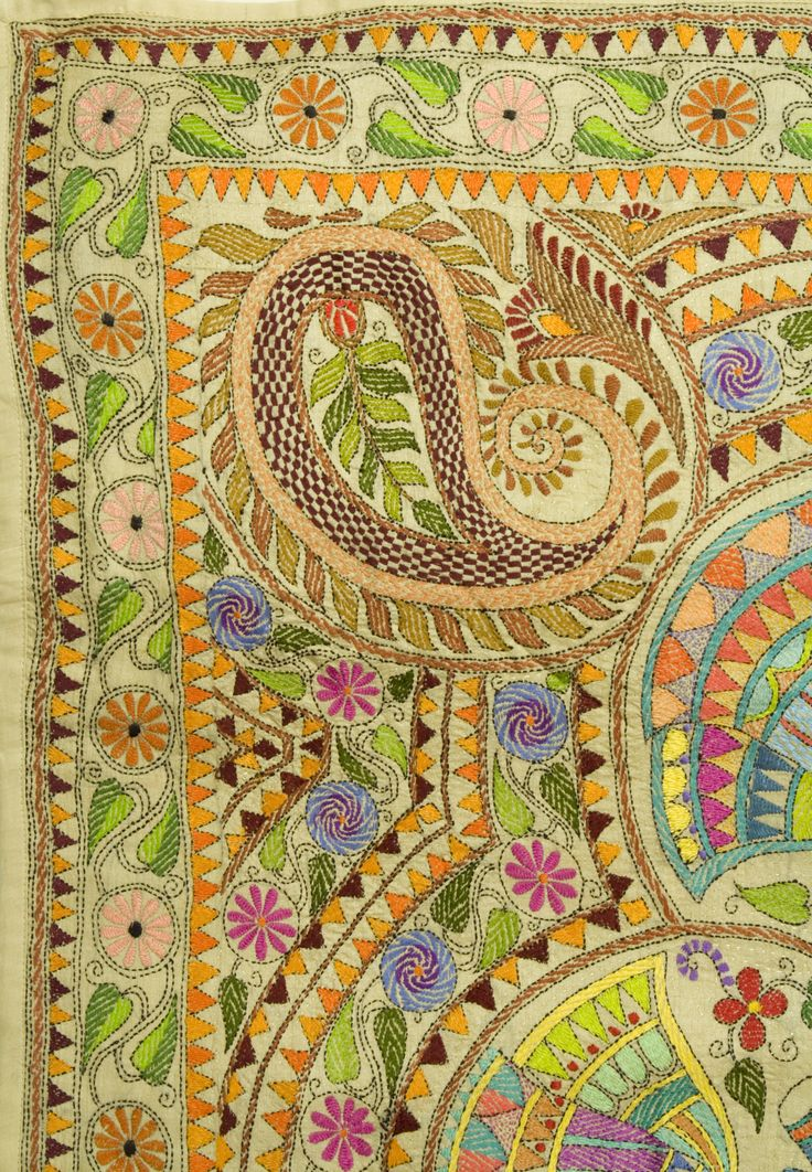india-kantha embroidery