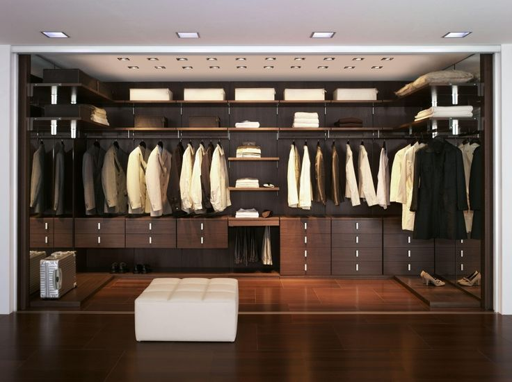 Closet And Wardrobe Designs. Modern Stylish Brown Walk In Closet Design  With Wooden Wall Mounted Shelves For Nice Saving Space Ideas For Clothes,  ...