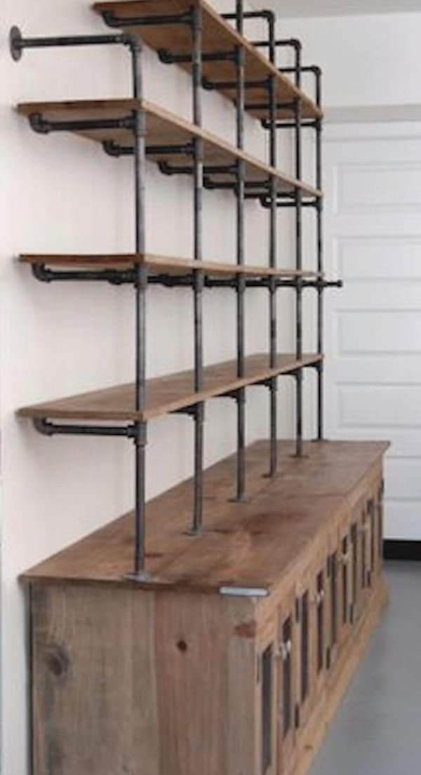 25 best ideas about industrial shelving on pinterest for Home interior shelf designs