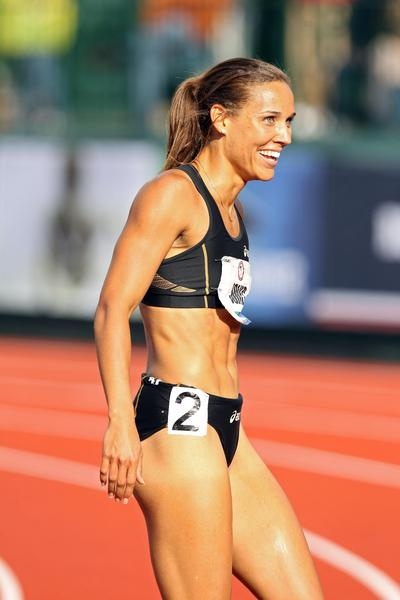 Lolo Jones is amazing. She is beautiful. I want her legs and her stomach and her hurdle form and her arms. She is my inspiration as a runner!