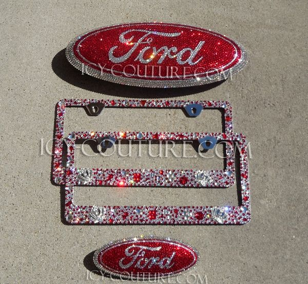Sparkling Red FORD Crystal emblems. Select Your Set. Whats your colors? ICY-Couture.com