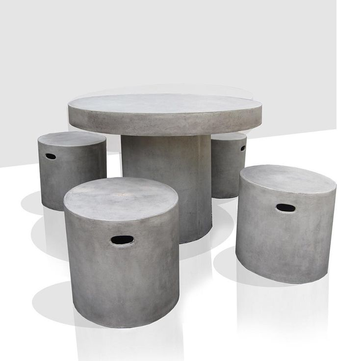 U201cRound Dining Table And Stools Landscaping Furnitureu201d