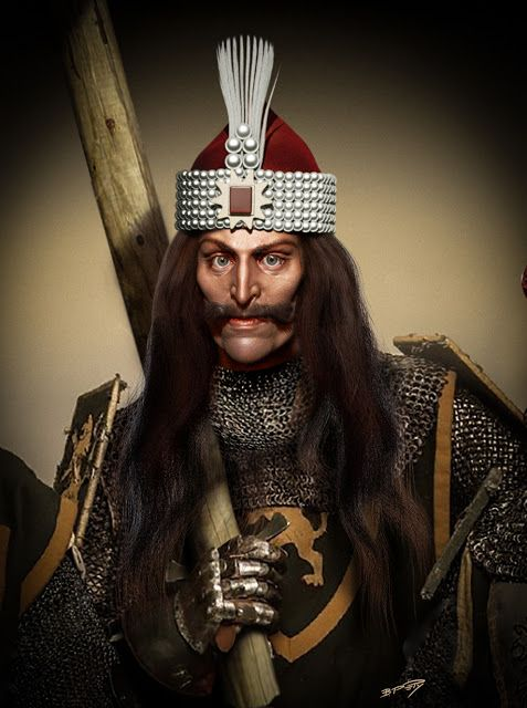Prince Vlad lll Dracula bust.