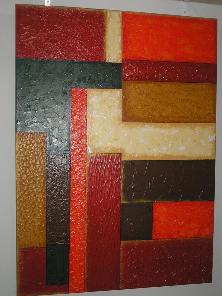 tela com textura, pintada com tinta acrílica por Manuela M.