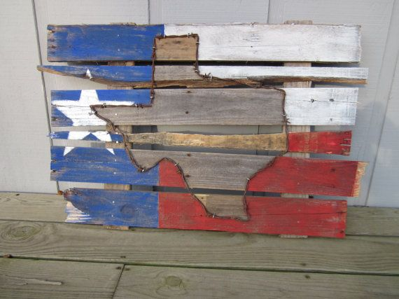 Barbwire Texas Flag by RoosterTailsTexas on Etsy, $50.00