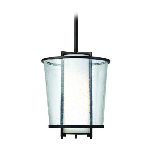 Troy Lighting Modern Outdoor Hanging Light with White Glass in Forged Bronze Finish | FF1357FBZ | Destination Lighting