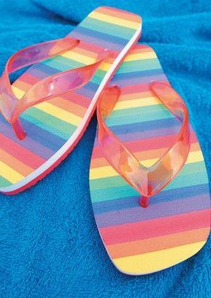 rainbow flip sandals highdefinition picture